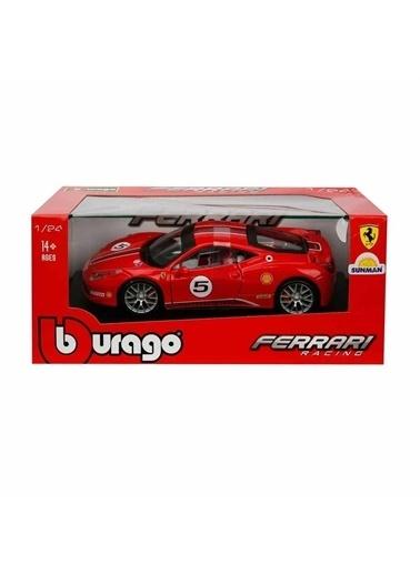 BBurago 1:24 Ferrari Racing 458 Challenge Model Araba Renkli